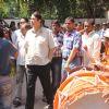 Randhir Kapoor was snapped at RK Studios Ganpati Visarjan