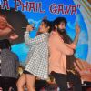 Shahid Kapoor and Alia Bhatt pose for the media at the Song Launch of Shaandaar