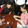 Ranbir Kapoor - Deepika Padukone Plays UNO Cards during Celebration of Diwali in Delhi