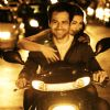 Emraan Hashmi and Soha Ali Khan sitting on a bike