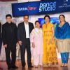 Manish Paul, Madhuri Dixit and Saroj Khan at Launch of 'Dance Studio' Channel on Tata Sky