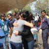 Beauty Chitrangda Singh Greets Singer Sunidhi Chauhan - Snapped at Airport