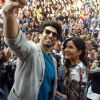 Aditya Roy Kapur & Katrina Kaif Took a Selfie with the Crowd Present