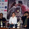 Actors Kareena Kapoor and Arjun Kapoor with director R. Balki at the Press Meet of Ki and Ka