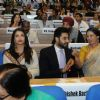 Jaya Bachchan, Aishwarya Rai Bachchan and Abhishek Bachchan at National Award Ceremony