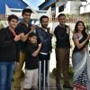 Emraan Hashmi Poses with 'Badi Door Se Aaye Hai' Team during Promotion of Azhar on the Show