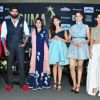Huma Qureshi, Rana Daggubati and Amyra Dastur at Press Meet of 'SIMA Awards'