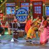 Shilpa Shetty with Kapil Sharma, Sunil Grover and Kiku Sharda on The Kapil Sharma Show