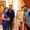 Sanjay Dutt and Manyata Dutt with Suvigya Sharma at Nargis Dutt Foundation's Art Event