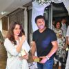Neelam Kothari and Sameer Soni at Prayer meeting of Raveena Tandon's father-in-law Kundan Thadani
