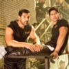 Bollywood actors John Abraham and Varun Dhawan in a still from song 'Toh Dishoom'