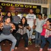 Varun Dhawan & John Abraham workouts with few female journalists during promotinal event of Dishoom