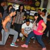 Workout Session with Varun Dhawan and John Abraham during an promotional event of 'Dishoom'