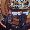 Karan Johar and Manish Paul performing on the sets of 'Jhalak Dikhlaa Jaa'