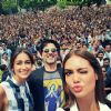 Esha Gupta : Akshay Kumar, Ileana D'cruz and Esha Gupta promote Rustom at a college in Delhi
