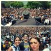 Akshay Kumar : Akshay Kumar, Ileana D'cruz and Esha Gupta promote Rustom at a college in Delhi