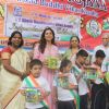 Juhi Chawla : Juhi Chawla celebrates Independence Day with children at A K Munshi Yojana