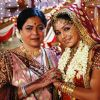 Reema Lagoo : Preeti with her mother Snehalata