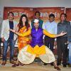 Manjari Fadnis, Shreyas Talpade and Hemant Pandey at Trailer launch of Film 'Wah Taj'