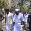 Abhishek Bachchan and Jackie Shroff at Suniel Shetty's father's funeral
