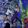 Harbhajan Singh and his wife Geeta Basra on the sets of 'Nach Baliye 8'