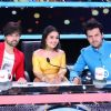 Judges Himesh Reshammiya and Neha Kakkar Javed Ali on Zee TV's 'Sa Re Ga Ma' Lil Champs'
