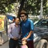 Ranveer Singh at Shankar Mahadevan's studio.