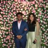 Johny Lever with daughter Jamie Lever at Kapil Sharma and Ginni Chatrath's Reception, Mumbai