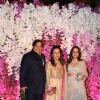 David Dhawan with wife and Natasha Dalal at Ambani Wedding!