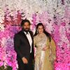 Suniel Shetty and his wife at Ambani Wedding!