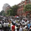 The funeral procession of Subhas Chakraborty in front of Writers Building
