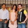 "Madhur Bhandarkar, Neil Nitin Mukesh and Mugdha Godse at ""JAIL"" promotional event, Oberoi Mall in Mumbai"