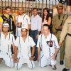 "Neil Nitin Mukesh, Madhur Bhandarkar and Mugdha Godse at ""JAIL"" promotional event, Oberoi Mall in Mumbai"