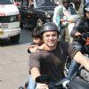 Sohail Khan with his son at Harley Davidson rally at VT to Bandra