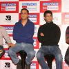Aamir Khan, Vidhu Vinod Chopra, Sharman at press-meet to promote film ''''3-idiots'''',at Noida