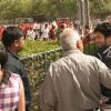 """Bollywood actor Shahid Kapoor visited his old school """"Gyan Bharti"""" in New Delhi 14 April 2010 to promote his film """"Paathshala"""" and revive his childhood memories"""