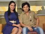 Veena Malik and Rajan Vema met press to promote Ziindagi 5050