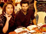 Aditya Roy Kapur and Parineeti Chopra visit Mohammed Ali Road