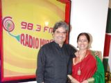 Vishal Bharadwaj and Rekha Bharadwaj at Radio Mirchi Studio