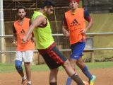Arjun and Ranbir Kapoor Snapped Playing a Friendly Football Match