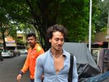 Tiger Shroff snapped outside his gym