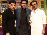 Shah Rukh Khan and Nawazuddin Siddiqui on sets of The Kapil Sharma Show