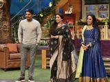 Vidya Balan & Ila Arun on the sets of 'The Kapil Sharma Show'