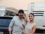 Alia Bhatt & Varun Dhawan Snapped at Mehboob Studio