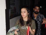 Alia Bhatt Snapped at PVR theatre, Juhu