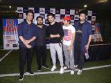 Sooraj Pancholi, Manish Malhotra and Aditya Thackeray at Super Soccer Tournament