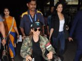 An injured Kangana is all SMILES at the Airport