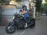 John Abraham on his bike.