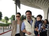 Kareena, Saif with Taimur leave for Delhi