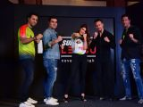 Jacqueline, Tiger and Arbaaz at Fight League Press Meet